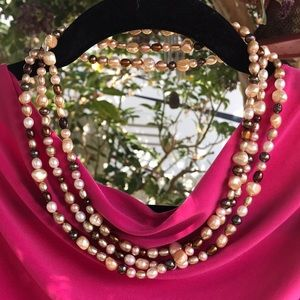 """Jewelry - ⬇️ $288 Stunning 60"""" Tahitian  Pearl Necklace"""